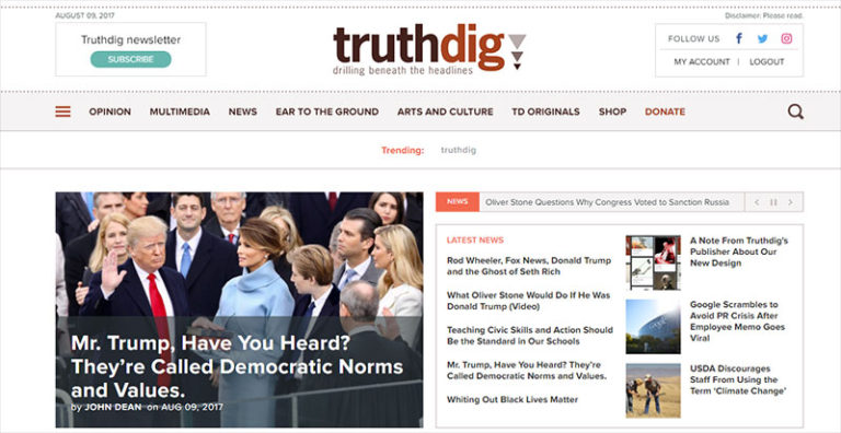 A Note From Truthdig's Publisher on Our New Design