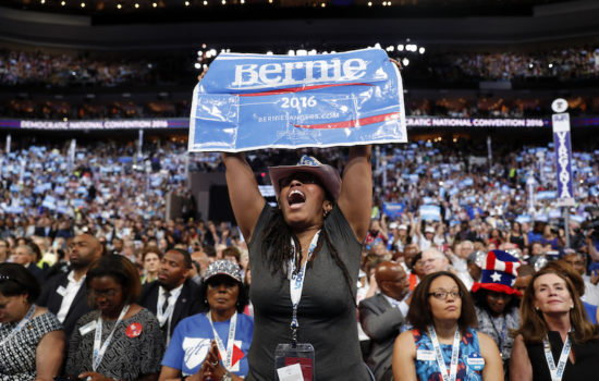 Disruptions by Angry Bernie Sanders Delegates Were the Best Part of the Democratic Convention