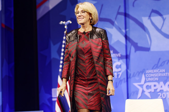 Betsy DeVos Indicates Big Plans to
