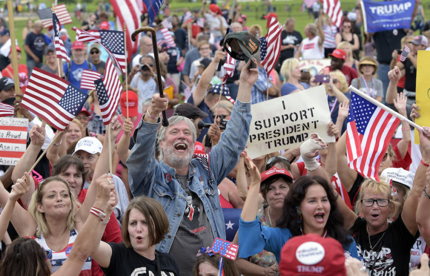 A crowd of Trump supporters in Washington, D.C. (Susan Walsh / AP)