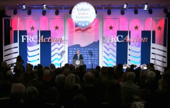 Trump Is First Sitting President to Speak at Values Voter Summit