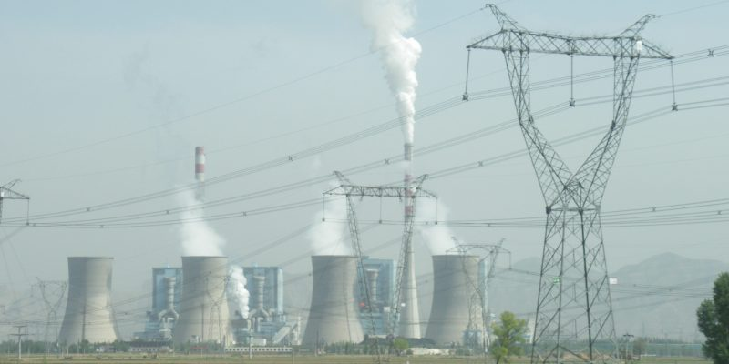 Increasing coal use as here in China is one factor driving emissions upwards