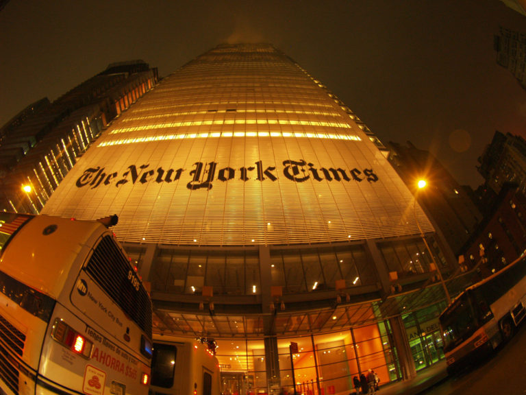 New York Times Journalist Secretly Led a Campaign Against It