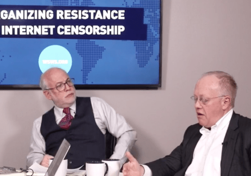 Chris Hedges, Socialist David North Discuss Internet Freedom