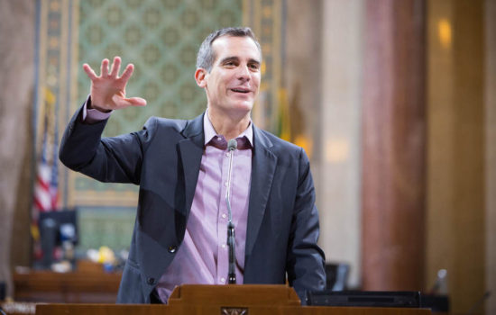 Los Angeles Mayor Eric Garcetti Could Be Trump's Kryptonite