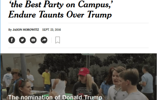 N.Y. Times Focuses on Rights of Campus Conservatives, Slights Liberals