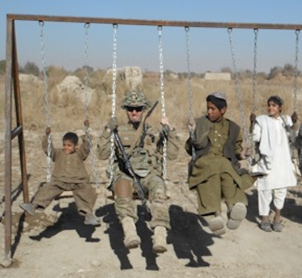 Personal Narrative Essay Examples High School St Lt Jordan Rich Enjoys A Donated Swing Set In Charcusa Afghanistan  Photo By Maj Danny Sjursen Health And Fitness Essays also Interesting Essay Topics For High School Students The Things We See But Dont Say In The Afghanistan War  Truthdig High School Application Essay Sample