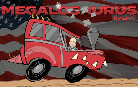 Drive the All-New Megalosaurus! (Video)