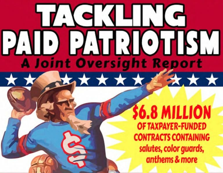 Follow the DOD's Money: The 'Tackling Paid Patriotism' Report
