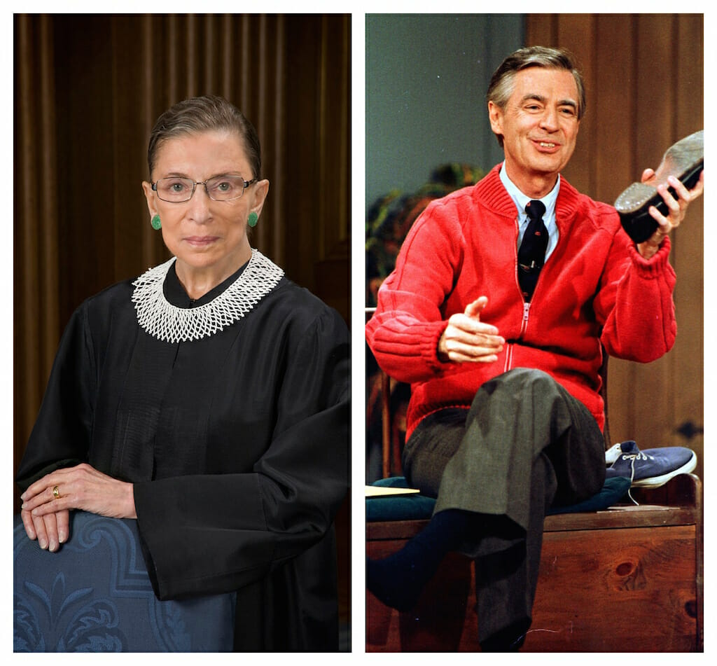 Justice Ginsburg And Mr Rogers Antidotes To Trumpism Truthdig