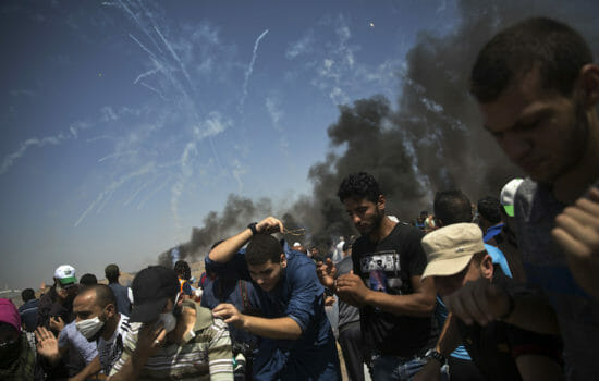 Hundreds Hurt in Gaza Protest, Including 80 by Israeli Fire