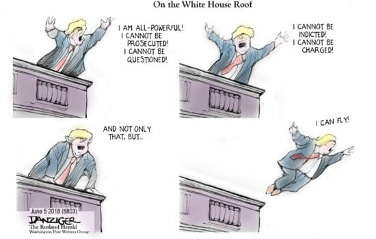 Trump on the Roof