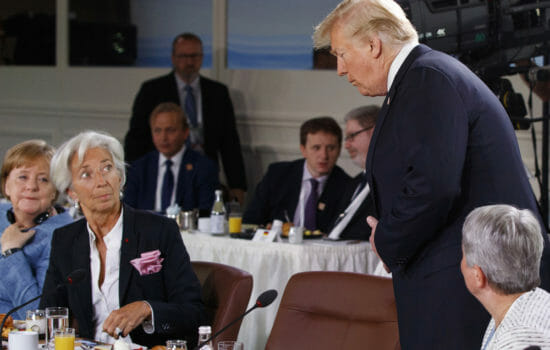 Tardy Trump Disrupts G-7 Gender Equality Meeting