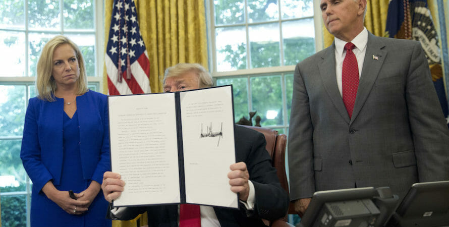 Trump Backs Down, Ends Family Separation Policy