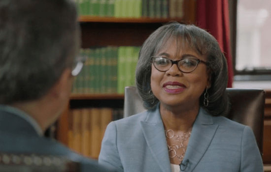 John Oliver and Anita Hill Discuss Whether #MeToo Is Effective (Video)