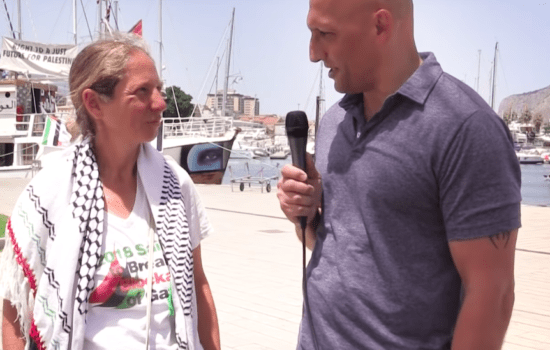 Israeli Activist Who Grew Up in a Kibbutz Sails to Gaza on the Freedom Flotilla (Video)