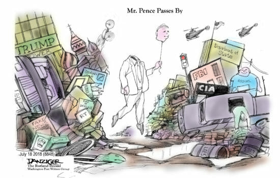 Pence Passes By
