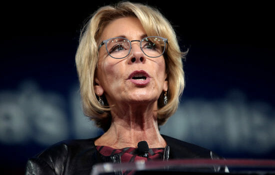 DeVos Weighs Federal Funding for Arming Teachers