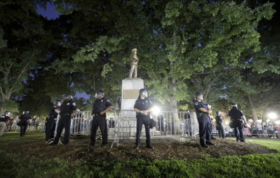 Protesters Topple Confederate Statue at N. Carolina Campus
