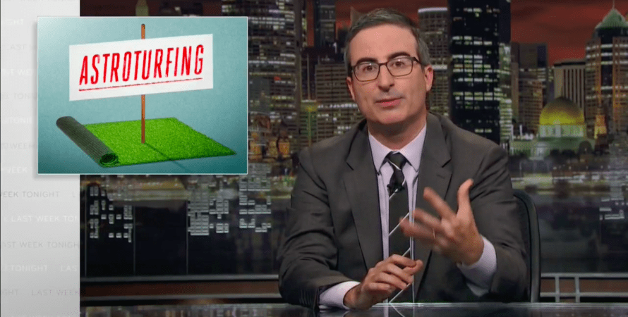 John Oliver on How to Spot Fake Grassroots Movements (Video)