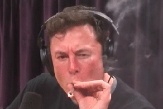 Tesla Stock Dips as CEO Appears to Smoke Pot on Video