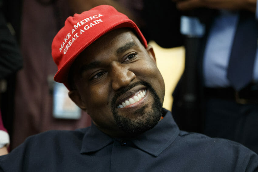 40c26f16590f4 Rapper Kanye West greets President Donald Trump in the Oval Office. (Evan  Vucci   AP)