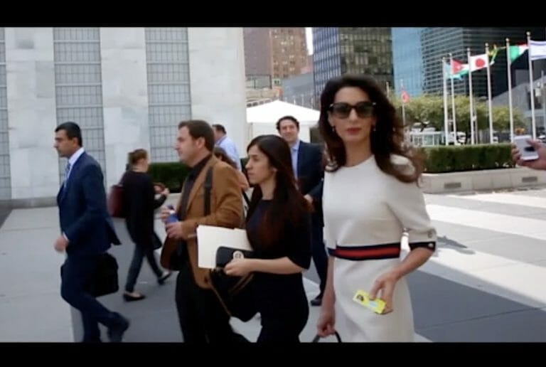 Nadia Murad and Amal Clooney Take the Yazidis' Cause to the U.N. (Video)