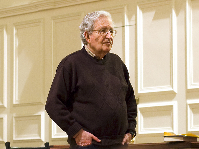 Philosopher, linguist and political theorist Noam Chomsky. (cloud2013 / Flickr)