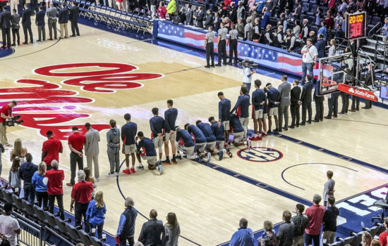 Mississippi Players Kneel in Response to Confederacy Rally
