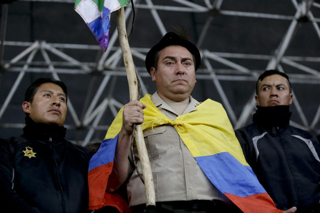 Terence Chea Author >> Defiant Protesters In Ecuador Parade Captive Police Officers