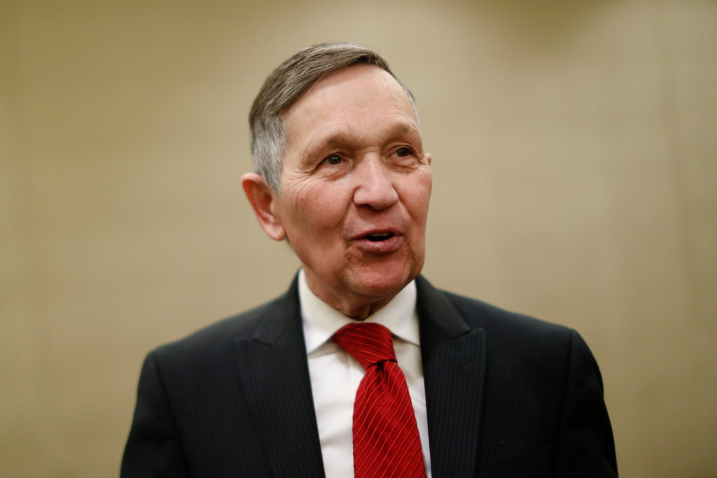 Former Congressman Dennis Kucinich announces his run for governor of Ohio in 2018.